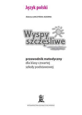 Język Polski - przewodnik metodyczny - część 1  - przewodnik metodyczny - szkoła podstawowa - kl. 4, 5