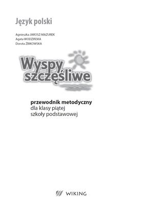 Język Polski - przewodnik metodyczny - część 2  - przewodnik metodyczny - szkoła podstawowa (kl. 1-8) - kl. 4, 5