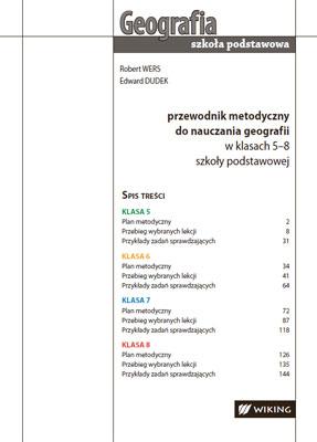 Przewodnik metodyczny donauczania geografii - kl. 5-8  - przewodnik metodyczny - szkoła podstawowa - kl. 5, 6, 7, 8