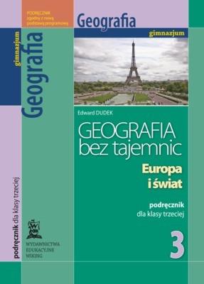 Geografia bez tajemnic kl. 3 Europa iświat - podręcznik - gimnazjum - kl. 3