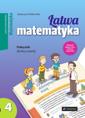 Matematyka kl. 4 Łatwa matematyka - podręcznik - szkoła podstawowa - kl. 4